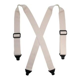 CTM® Men's Elastic Undergarment TSA Compliant Suspenders (Tall Available) - Beige