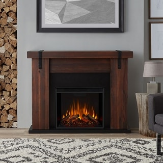 Link to Aspen Electric Fireplace in Chestnut Barnwood  finish - 48.5L x 13.5W x 38.19L Similar Items in Fireplaces