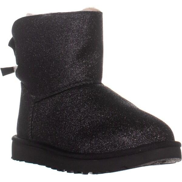 3088564c147 Shop UGG Mini Bailey Bow Sparkle Boots, Black - 8 US / 39 EU - Free ...