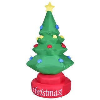 Gymax 7ft Rotary Inflatable Christmas Tree Holiday Indoor Outdoor Decoration Blower