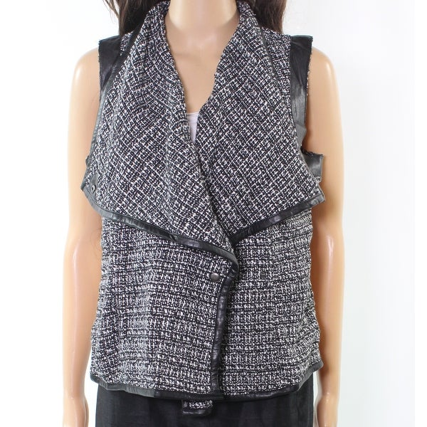 KUT From The Kloth NEW Black Women's Size Medium M Tweed Vest Jacket