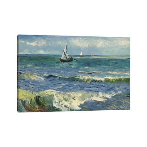 "iCanvas ""Seascape Near Les Saintes Maries de la Mer"" by Vincent van Gogh Canvas Print"
