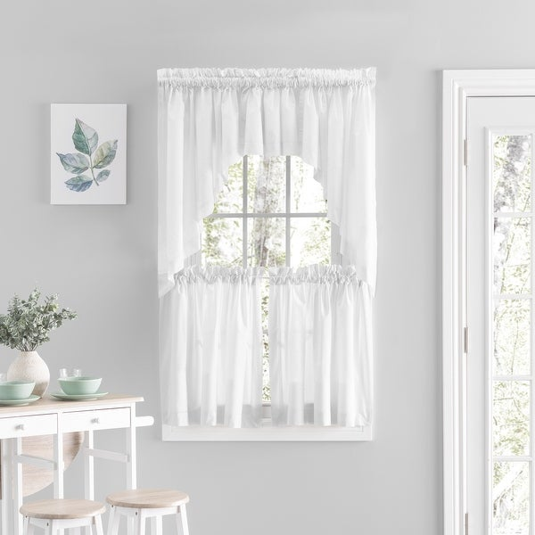 Simplicity Rod Pocket Kitchen Curtains - Tier, Swag or Valance (Sold Separately). Opens flyout.