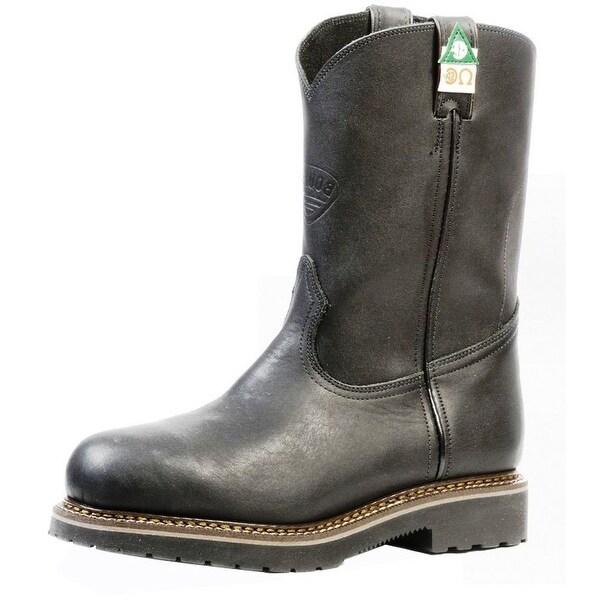 Boulet Work Boots Mens Leather Steel Toe Lenzi Goodyear Black