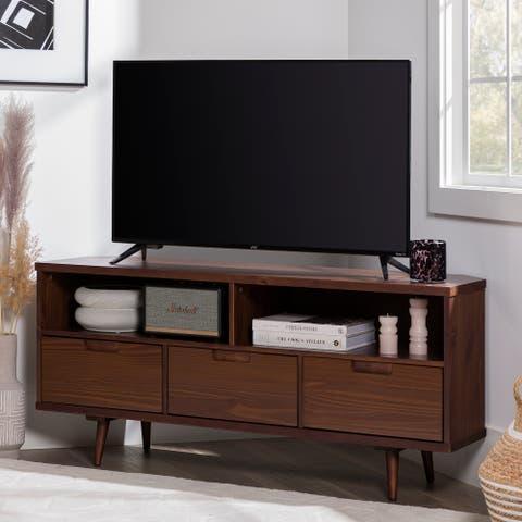 Carson Carrington Alby 52-inch Mid-century Corner TV Console