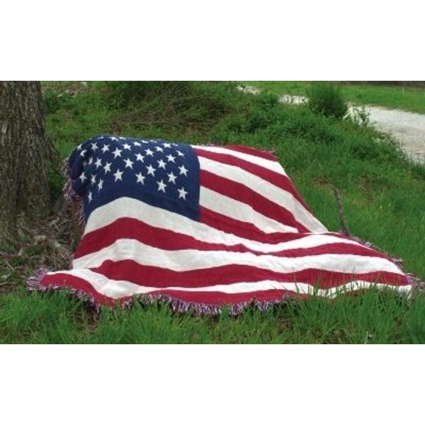 Stars And Stripes Patriotic Woven IndoorOutdoor Throw Blanket 40 X Best Stars And Stripes Throw Blanket
