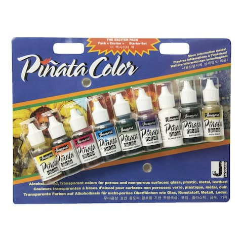 Jacquard Acid-Free Pinata Color Exciter Pack, 1/2 Ounce, Assorted Color, Set of 9