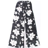 Show Me Your Mumu Black Women Size Medium M Floral Wide Leg Pants