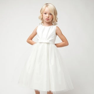 Sweet Kids White Scoop Neck Tulle Special Occasion Dress Girls 6M-3T