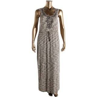 Spense Womens Petites Embroidered Maxi Maxi Dress - pxl