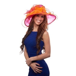 Saratoga Sweetheart Two Tone Organza Derby Hat with Flower