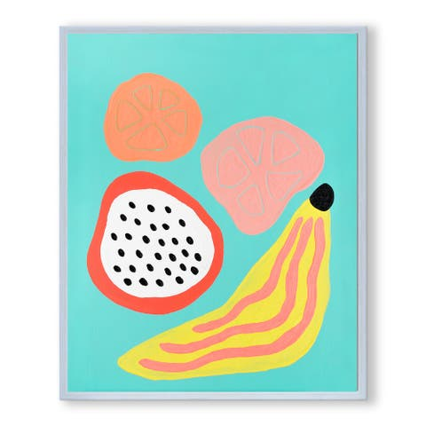 Porch & Den Lisa Kaw 'Fruity Friday' Framed Canvas Wall Art