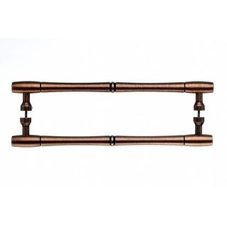 Top Knobs M856-12pair Nouveau Collection 12 Inch Center to Center Old English Copper Bamboo Back to
