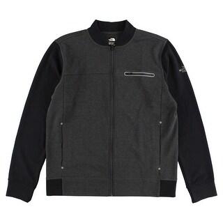 The North Face Mens Slacker Full Zip Jacket Dark Gray - dark gray/black - L