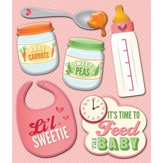 Life's Little Occasions Sticker Medley-Baby Girl Food
