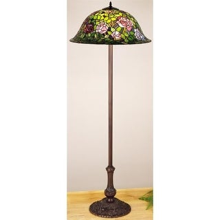 Meyda Tiffany 30368 Stained Glass / Tiffany Floor Lamp from the Tiffany Rosebush Collection