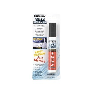 Rust-Oleum 267868 Glass Marker, Black, 2/3 oz