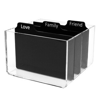 Polaroid Clear Acrylic Photo Storage Box With Dividers For Zink 2x3 Photo Paper (Snap, Zip, Z2300)
