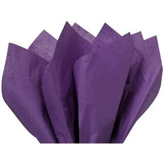 """(240 pack) Solid Purple Tissue Paper 20 x 26"""" Sheet Half Ream Made From 100% Post Industrial Recycled Fibers"""