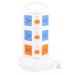 Surge Protector Power Strip Smart Socket 10-Outlet 4-USB Charger Port 6Ft Cable