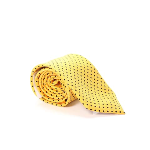 Tommy Hilfiger Men's Neck Tie Yellow Blue One Size Solid Polkadot