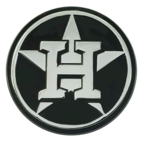 Houston Astros Auto Emblem Premium Metal Chrome