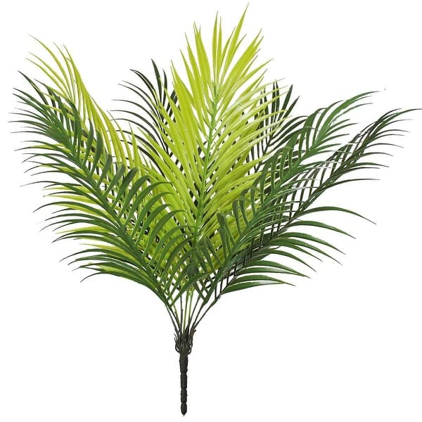 Shop Fake Tropical Palm Fronds Plant 9 Leaves Palm Tree Overstock 26430557