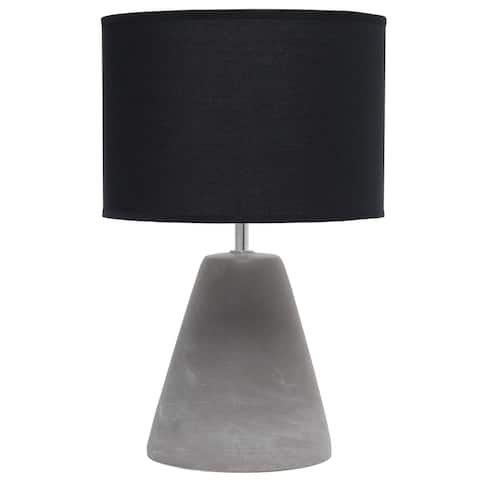 Simple Designs Pinnacle Concrete Table Lamp