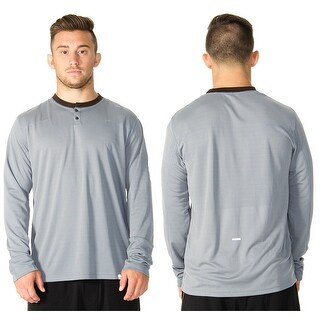 RVCA VA Sport Plata Long Sleeve Henley - Monument Gray