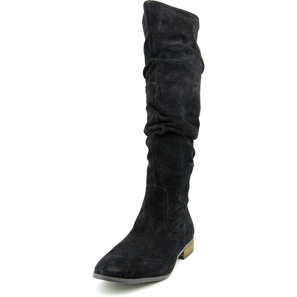 Steve Madden Tangy Women  Round Toe Suede Black Knee High Boot