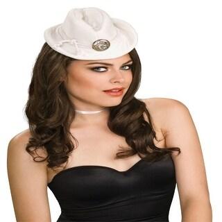 White Mini Cowboy Western Girl Costume Hat