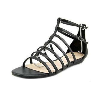 Nine West About That Women  Open Toe Synthetic Black Gladiator Sandal