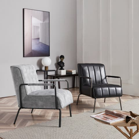 Corvus Zelda Lounge Accent Chair with Arms