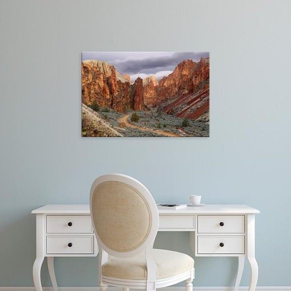 Easy Art Prints Jaynes Gallery's 'View Of Leslie Gulch' Premium Canvas Art