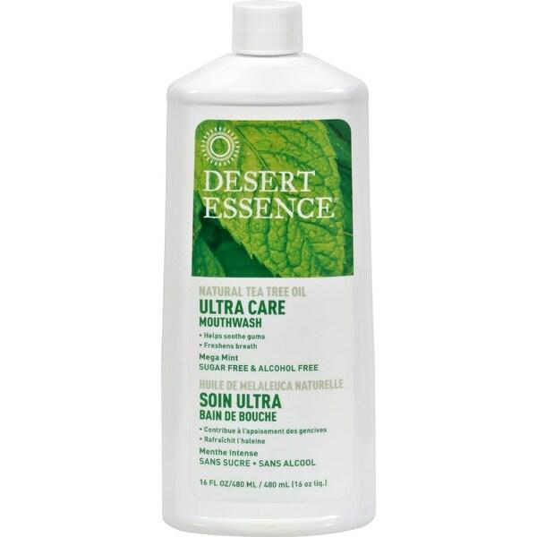Desert Essence Mouthwash - Tea Tree U/Care Mint - 16 fl oz