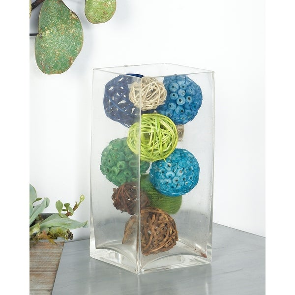Blue Dried Plant Material Coastal Orbs & Vase Filler Nature (Set of 3) - 6 x 6 x 10Round. Opens flyout.