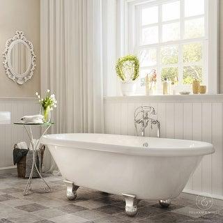 Pelham & White Luxury 60 Inch Clawfoot Tub with Chrome Cannonball Feet