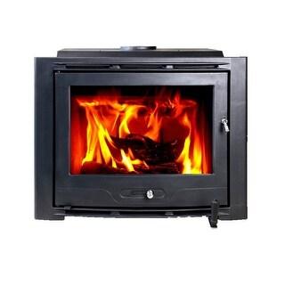 HiFlame Highlander HF577IU7 Large Cast Iron Wood Fireplace Insert