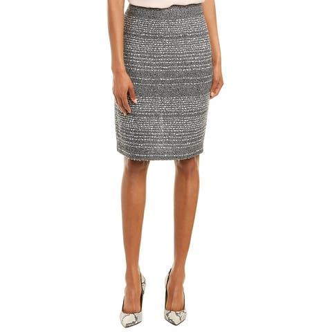 St. John Pencil Skirt - GYCM-GREY/CAVIAR MULTI