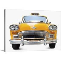 Premium Thick-Wrap Canvas entitled New York taxi antique taxi - Multi-color