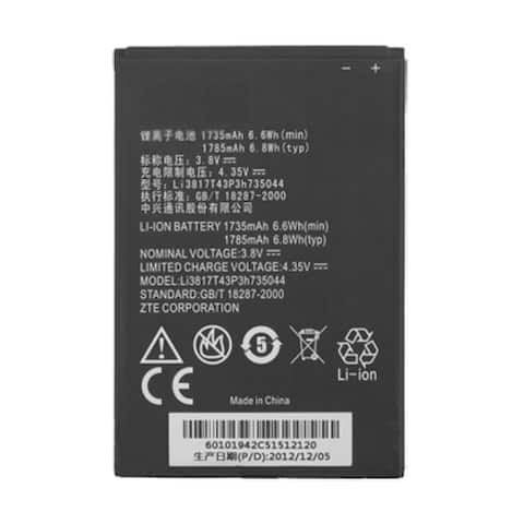Replacement Battery for ZTE Li3817T43P3h735044 (Single Pack) Replacement Battery