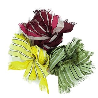 Valentino Stripe AZ 150-153-156 100% Silk Scarves - Set of Three