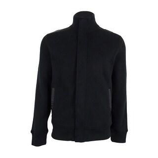 Nautica Men's French Ribbed Track Jacket - True Black