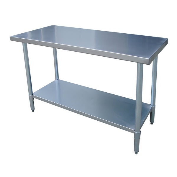 Offex Stainless Steel Work Table X Inches Silver Free - 24 x 48 stainless steel work table