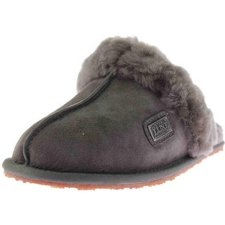 Australia Luxe Womens Closed Sheepskin Indoor/Outdoor Mule Slippers
