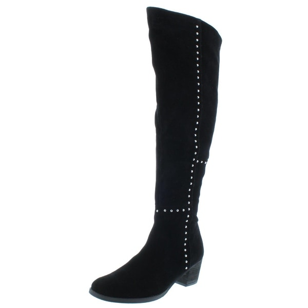 Design Lab Womens Odel Over-The-Knee Boots Suede Studded Black 8 Medium (B,M) - 8 medium (b,m)