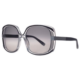 DSquared DQ 0109/S 03B Black/Clear Oversized Square Full Rim Sunglasses - 57-18-135