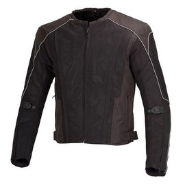 Men Motorcycle Textile Mesh Race Jacket CE Protection Black MBJ054
