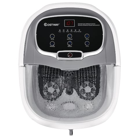 Costway Portable Foot Spa Bath Motorized Massager Electric Feet Salon - 15''X18''X15'' (LxWxH)
