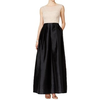 Adrianna Papell Womens Formal Dress Beaded Mesh